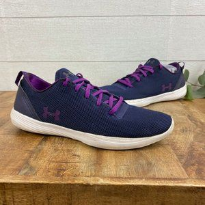 Under Armour Womens 10.5 Navy/Purple Sneakers